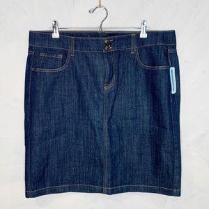 Old Navy Dark Wash Denim Skirt - Size 16 Tall